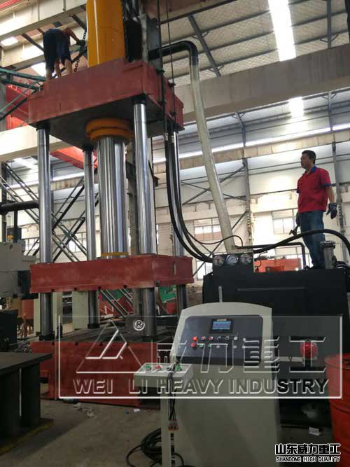 500吨玻璃钢花盆模压成型液压机