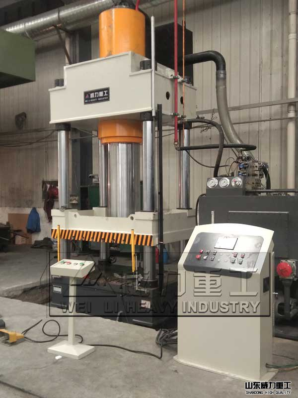 630吨耐火材料成型伺服液压机